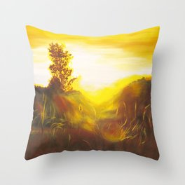 Dancing Sunset Throw Pillow