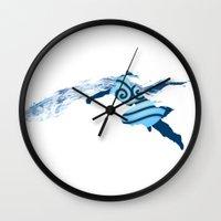 legend of korra Wall Clocks featuring Legend of Korra - Southern Water Tribe by Stacie Clarke