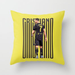 Cristiano CR7 Flat Design Throw Pillow
