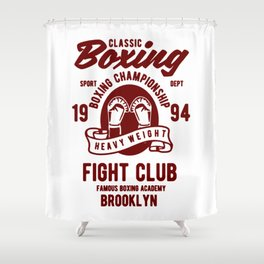 clasic boxing club Shower Curtain