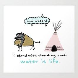water is life. Art Print