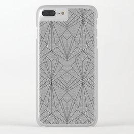Art Deco in Black & Grey Clear iPhone Case