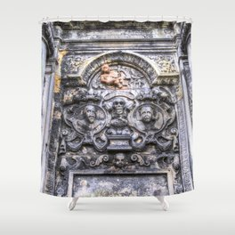 Ancient Grave Stone Greyfriars Kirk Graveyard Shower Curtain