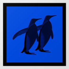 Penguins mate for life Art Print
