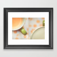 Opposites Love - Coffee Framed Art Print