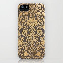 Gold swirls damask #9 iPhone Case