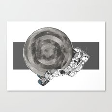 Troubled Moons and Spacemen Canvas Print
