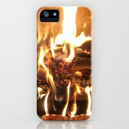 Keeping Warm by the Fire iPhone Case