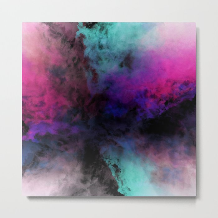 Neon Radial Dreams Metal Print