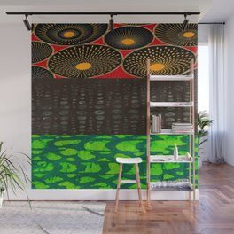 Pan African Flag Collage Wall Mural