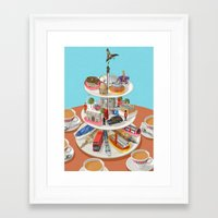 british Framed Art Prints featuring a very British past time by John Holcroft
