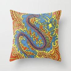 Dragon Drawing Meditation Throw Pillow