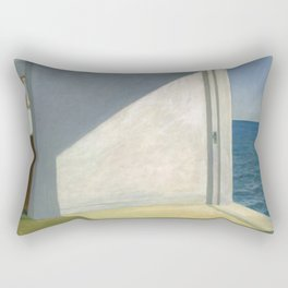 Rooms By The Sea Edward Hopper Painting Rectangular Pillow