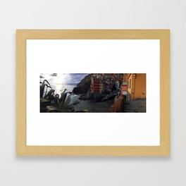 riomaggiore panorama, cinque terre. Framed Art Print