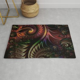 Fractal game with colors and shapes Rug