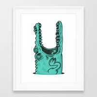 crocodile Framed Art Prints featuring Crocodile! by andres lozano