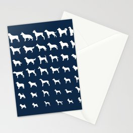 All Dogs (Navy) Stationery Cards