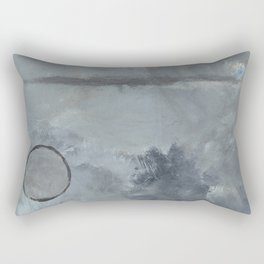 Moon And Monutains Rectangular Pillow