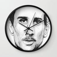 the godfather Wall Clocks featuring Young Godfather! by DeMoose_Art