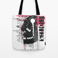silent Tote Bags featuring Silent by Tshirt-Factory