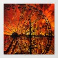 ferris wheel Canvas Prints featuring Ferris wheel by  Agostino Lo Coco