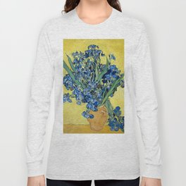 1890-Vincent van Gogh-Irises-73,5x92 Long Sleeve T-shirt