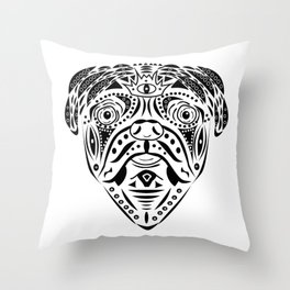 Straight Puggin' - Chocolate Throw Pillow