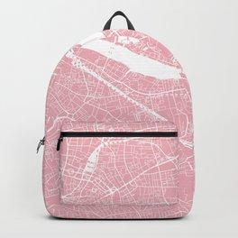 London, UK, City Map - Pink Backpack