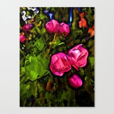 Pink Blossoms in the Green Wind Canvas Print