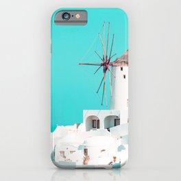 Windmill Santorini Oia iPhone Case