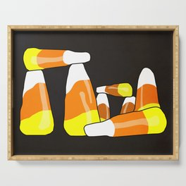 Candy Corn Henge Serving Tray