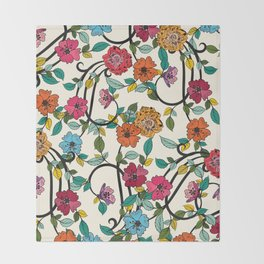 Fleurs Throw Blanket