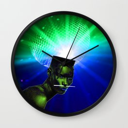 "Grace Jones ""Remixed"" Wall Clock"