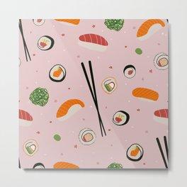 Pink sushi Metal Print