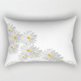 Flower white minimal Rectangular Pillow