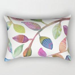 Colorful Leaves Watercolor Rectangular Pillow