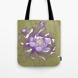 Peony flower Tote Bag