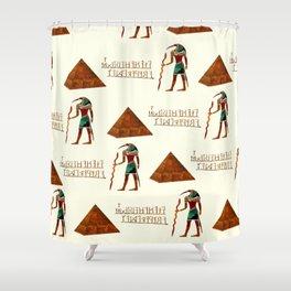 Ancient Secrets THOTH 3D Scifi Egyptian Shower Curtain