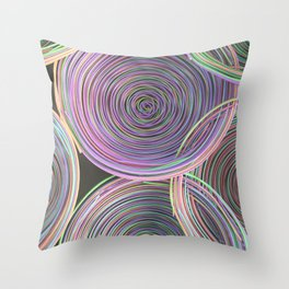 Colorful spiraled coils Throw Pillow