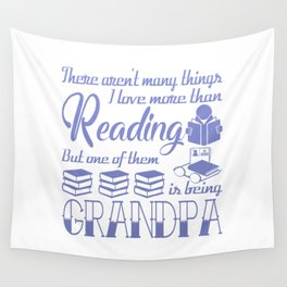 Reading Grandpa Wall Tapestry