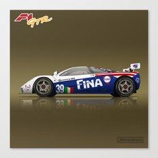 1996 McLaren F1 GTR #17R FINA Canvas Print