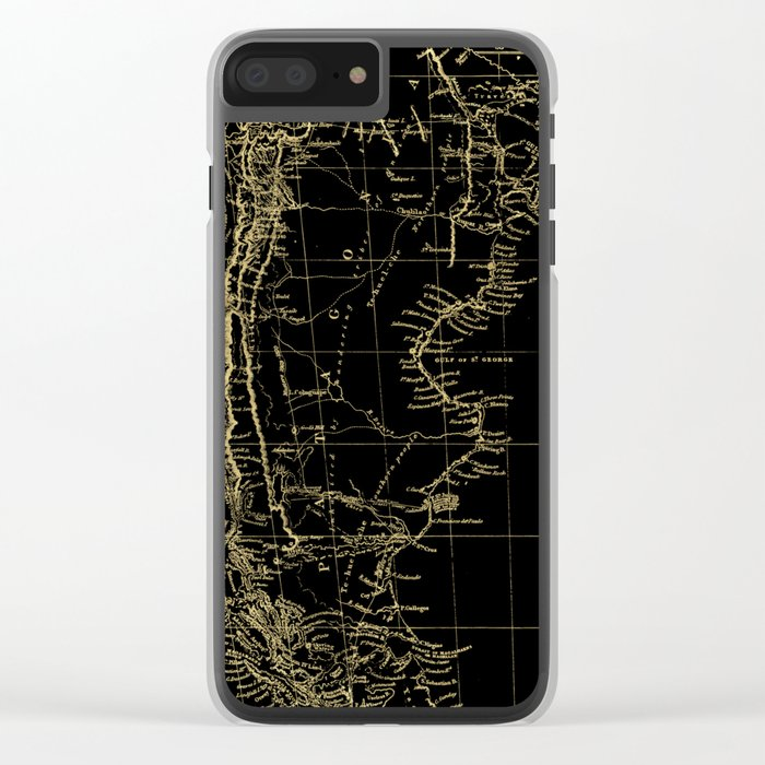 Patagonia - Black and Gold Clear iPhone Case