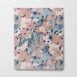 Tropical Florals (Frost) Metal Print