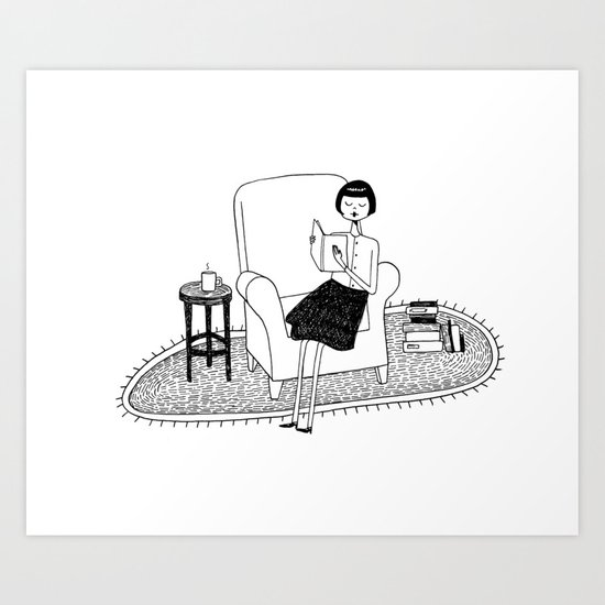 I'll get by as long as I have books Art Print