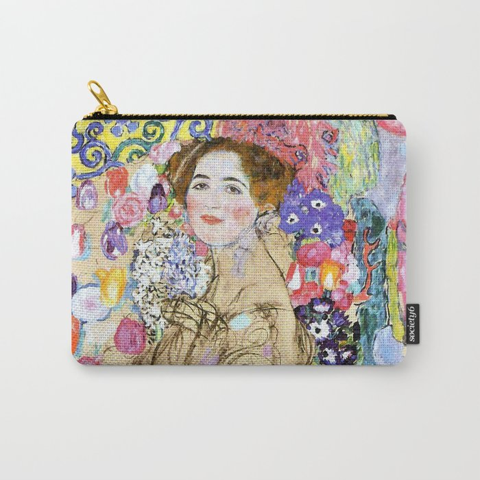 """Gustav Klimt """"Portrait of Maria Munk (unfinished)"""" Carry-All Pouch"""