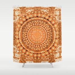 Boho Pumpkin Spice Mandala Shower Curtain
