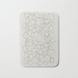 Abstract Stones, Minimalist Line Art Bath Mat