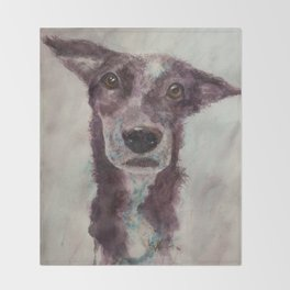 Parson, the cattle dog Throw Blanket