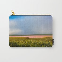 Land of Plenty- Field of Pink and Yellow Flowers in Nebraska Carry-All Pouch