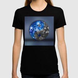 YIN & YANG Stars in blue black T-shirt